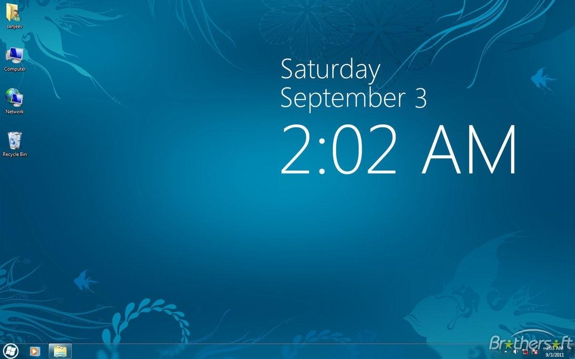 Free Download Desktop Digital Clock Gadget For Windows 7