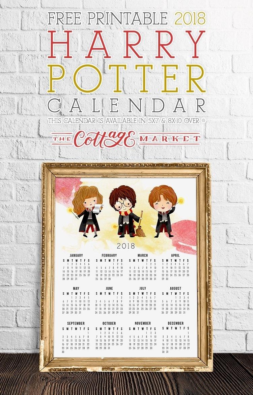 Free Harry Potter Printable Calendar | Harry Potter Calendar