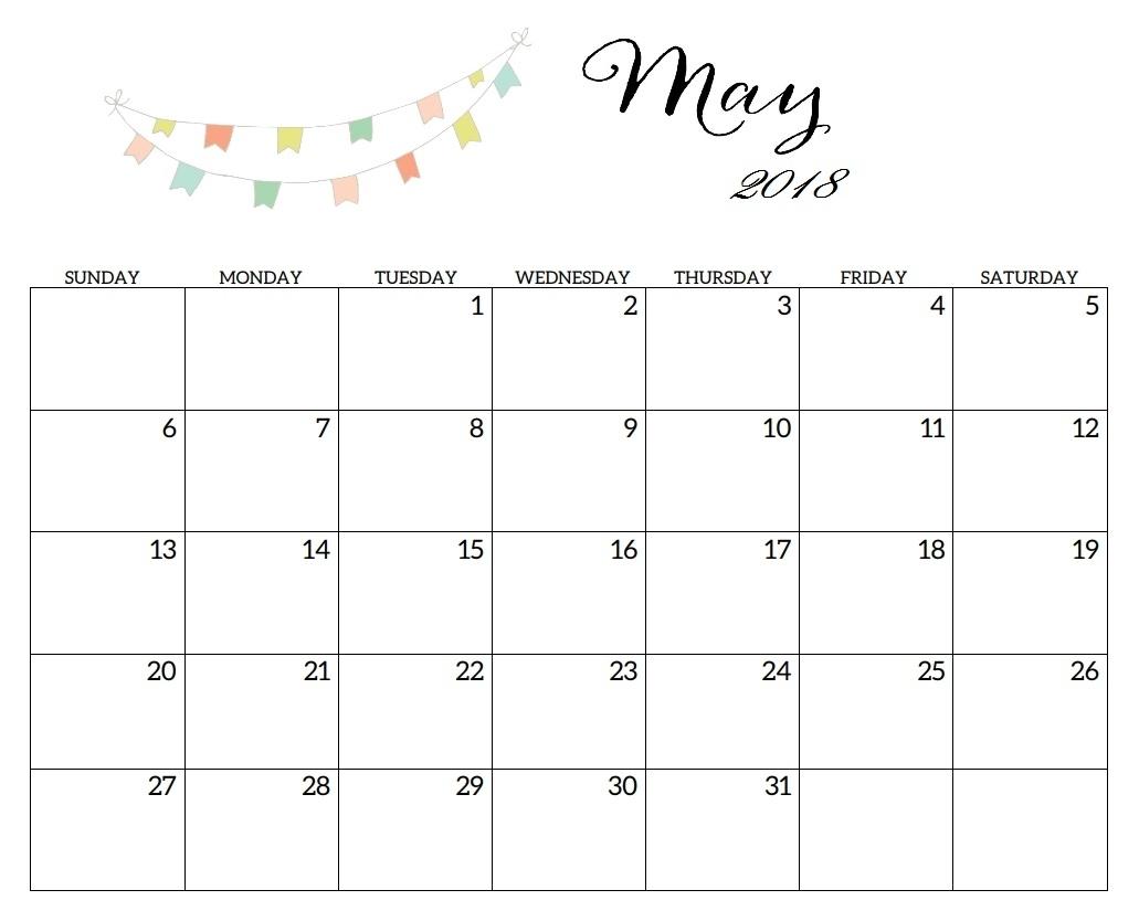 Free May 2019 Calendar Printable Word Pdf Landscape Excel