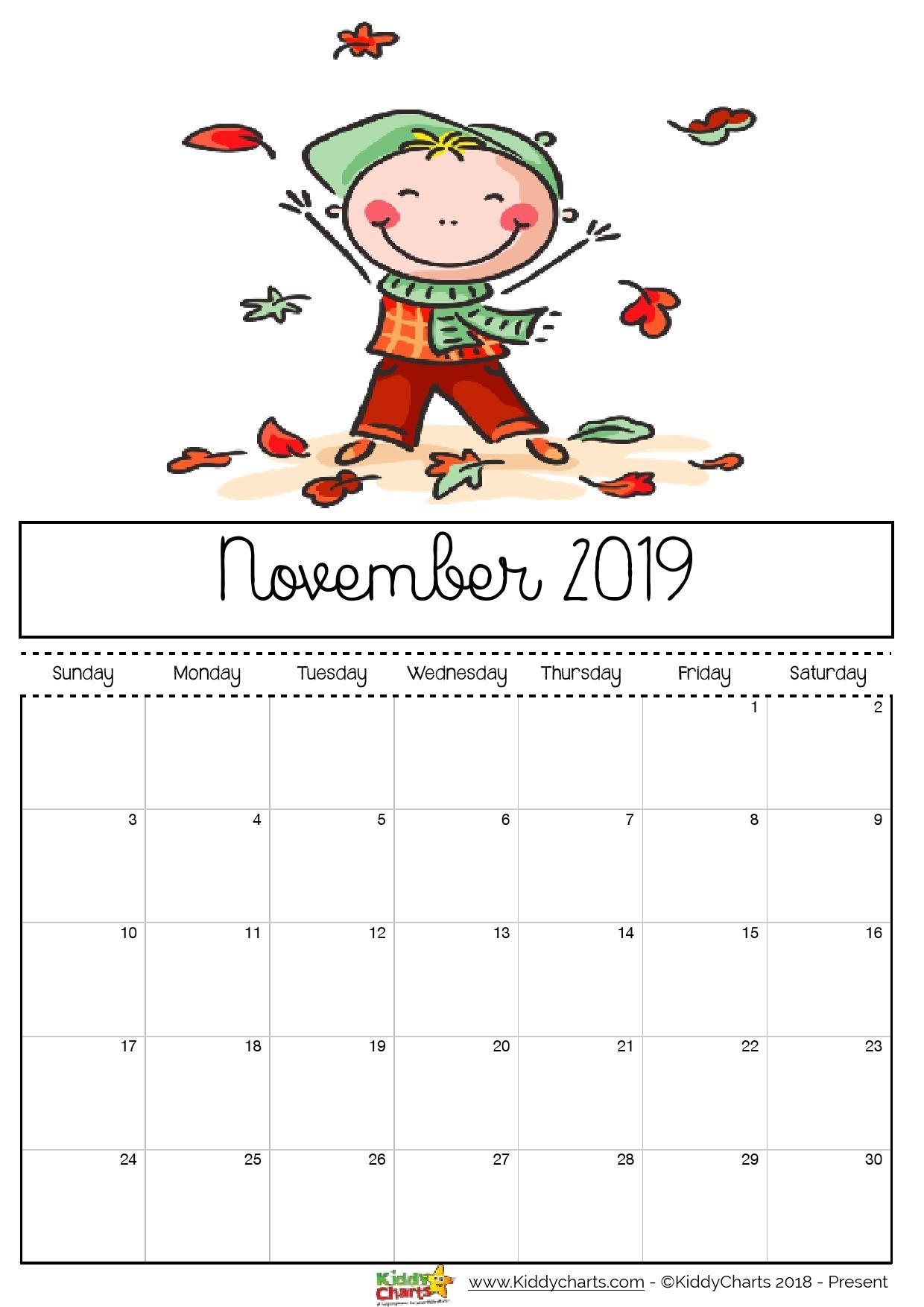 Free Printable 2019 Calendar - Print Yours Here | Kiddycharts