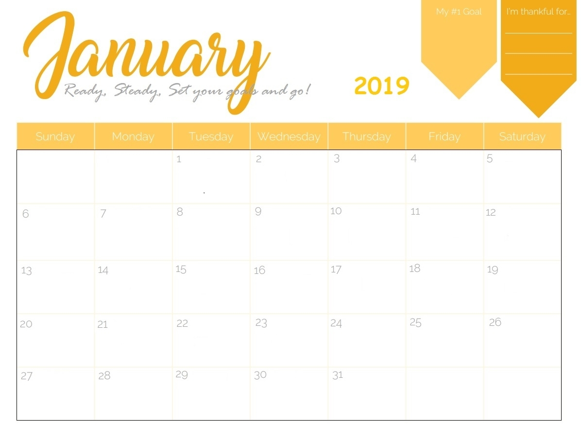 Free Printable 2019 Monthly Calendar | Latest Calendar