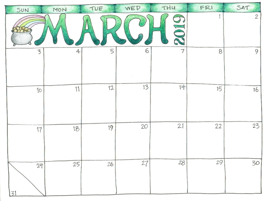 Free Printable 2019 Scrapbooking Calendars - Flanders Family