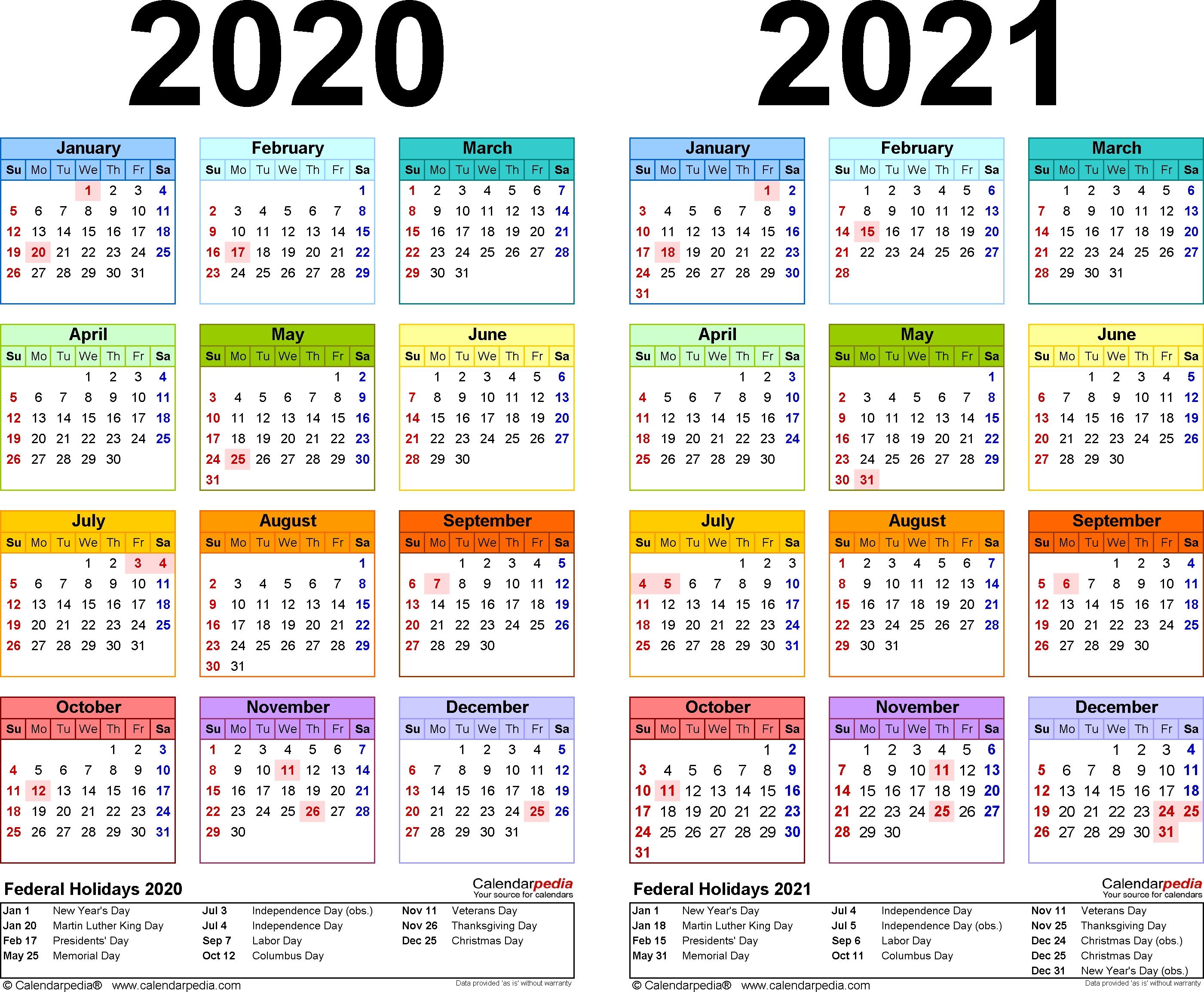 Free Printable 3 Year Calendar 2019 2020 2021 | Calendar