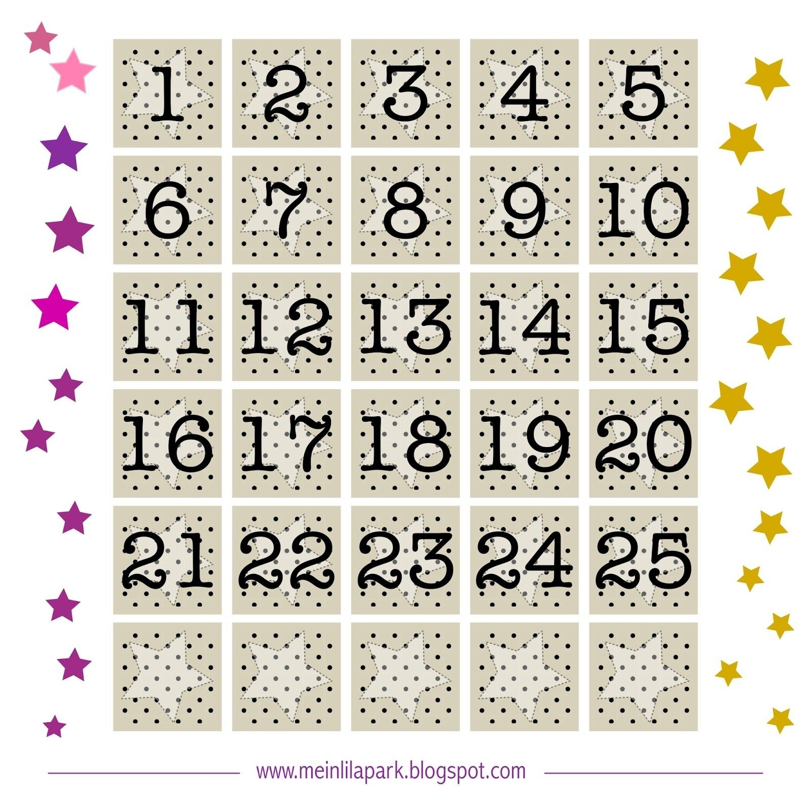 Free Printable Advent Calendar Number Tags | With Tiny Polka