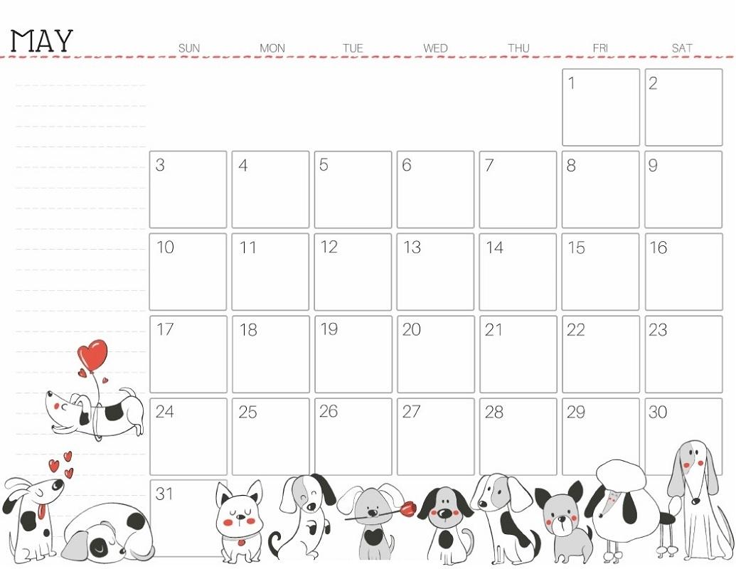 Free Printable Blank Calendar 2020 Cute For Cute People
