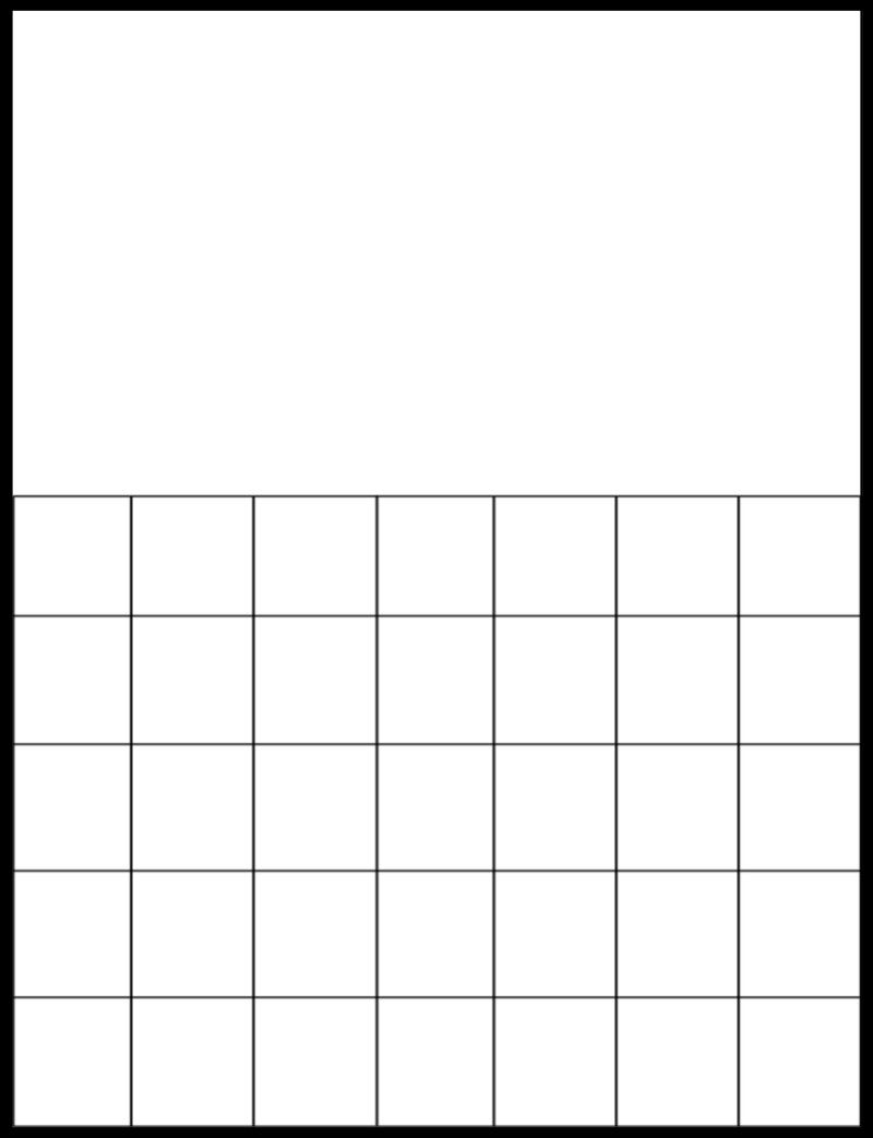 Free Printable Blank Calendar Grids | Printable Blank
