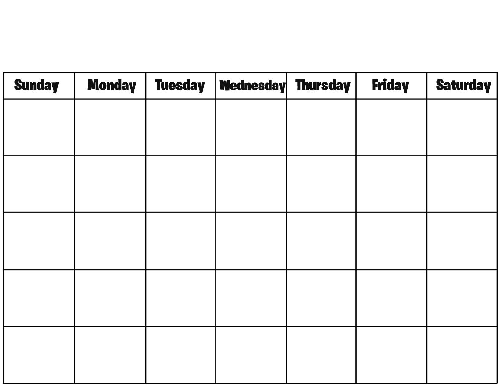 Free Printable Blank Calendar Pages Printable Calendar