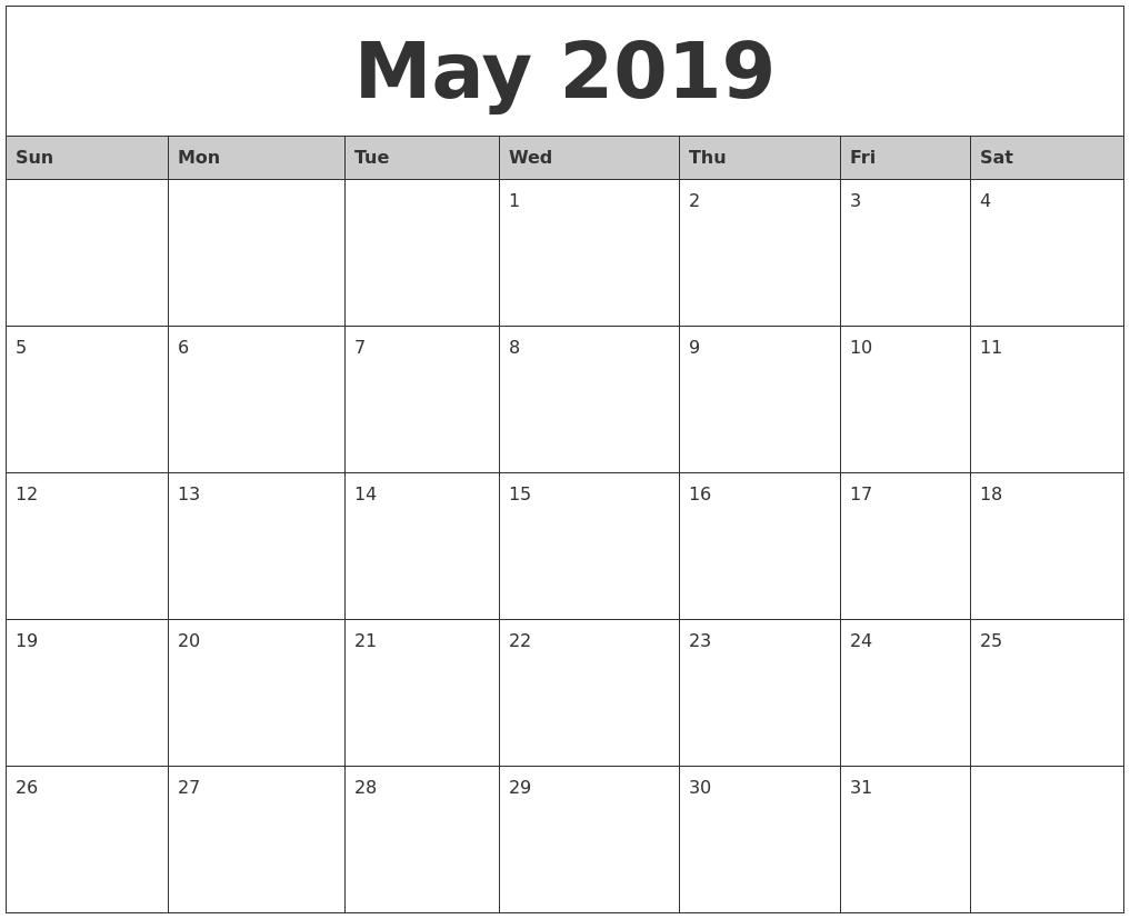 Free Printable Calendar 2018: 2019 Editable Word, Excel