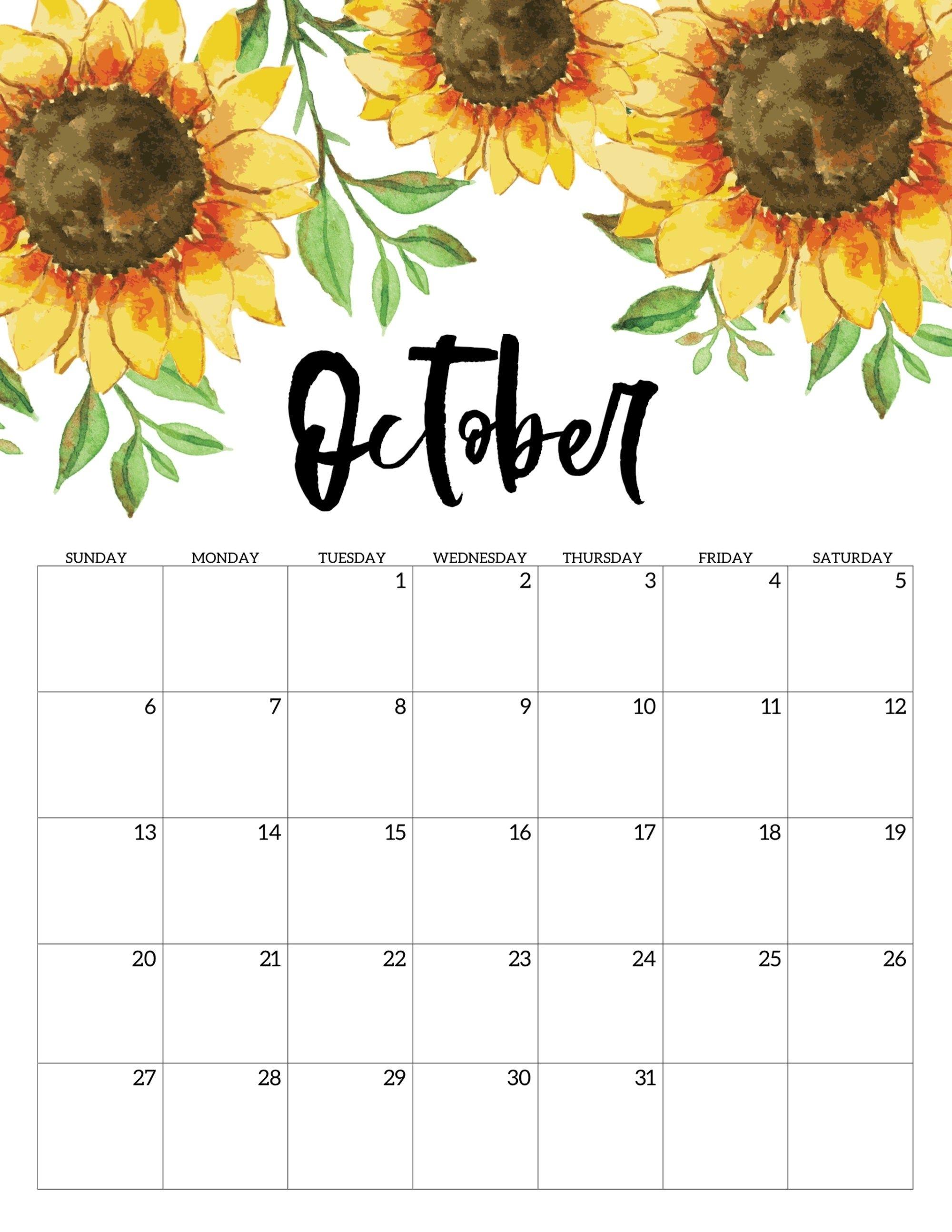 Free Printable Calendar 2019 - Floral | Calendar 2019