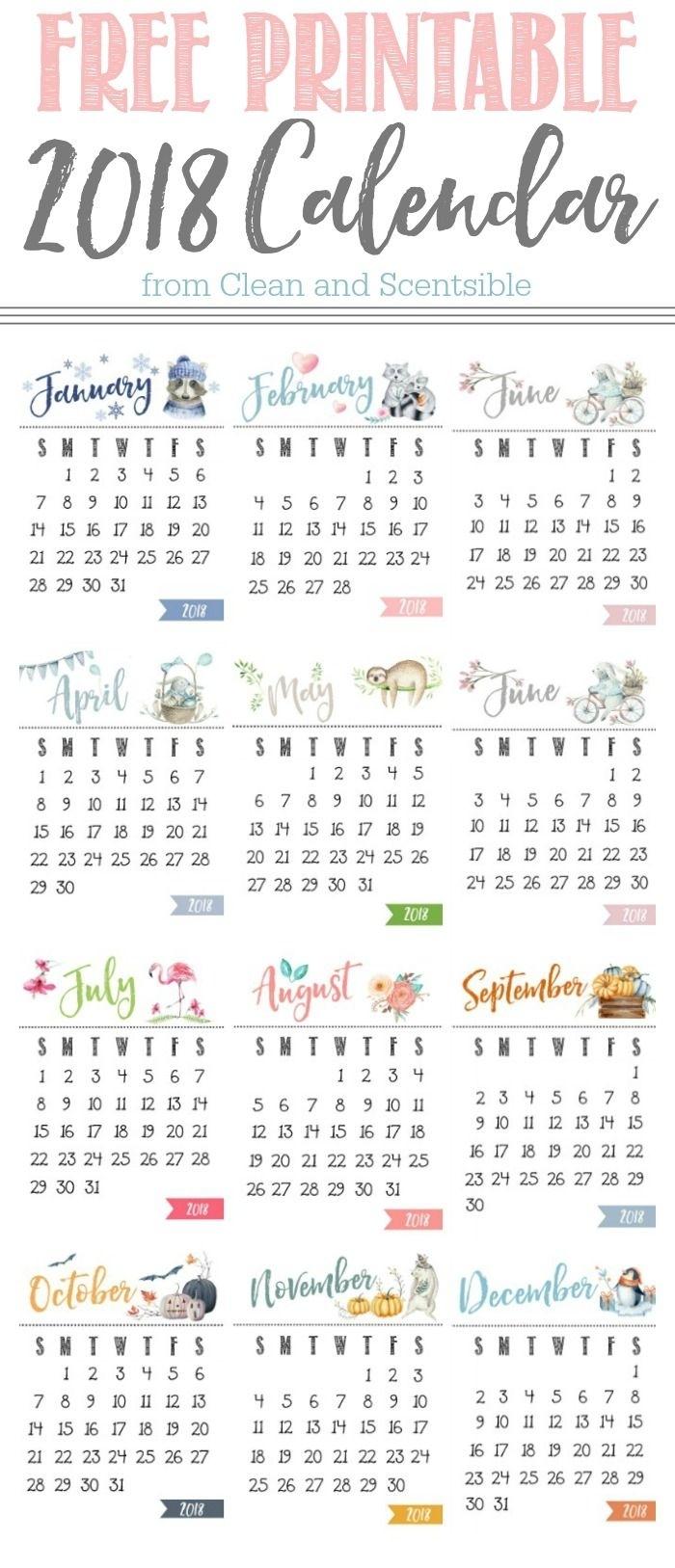 Free Printable Calendar | Calendar | Calendarios Imprimibles