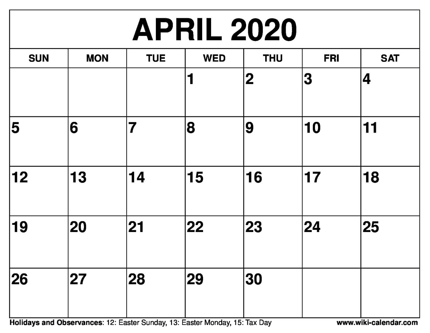 Free Printable Calendar For 2019 Or 2020