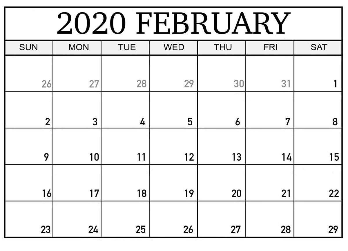 Free Printable Calendar Pages 2020 For Home | Calendar Shelter