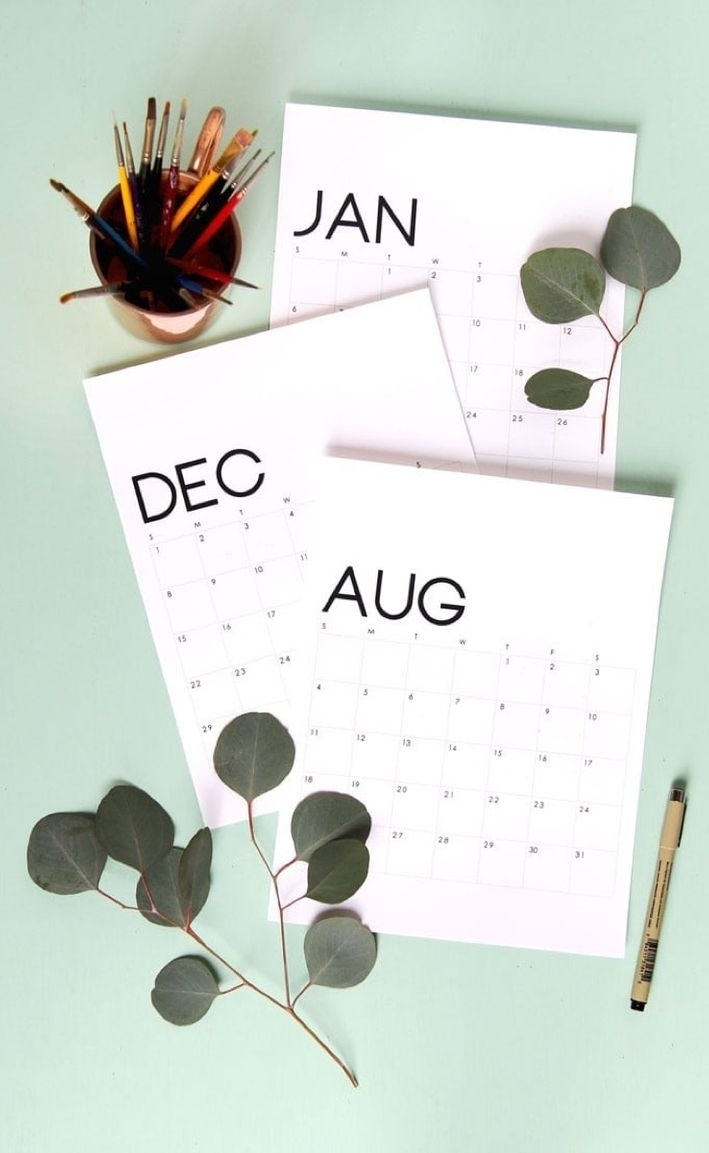 Free Printable Calendar Roundup | 2019 Monthly Templates
