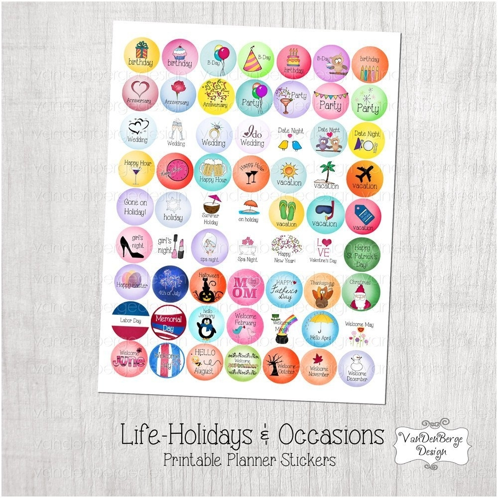 Free Printable Calendar Stickers To Download Or Print
