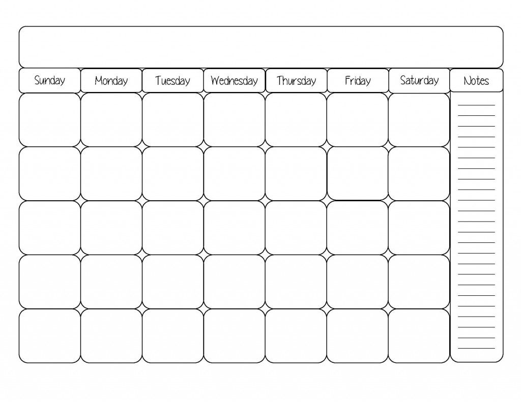 Free Printable Calendar Template | Printable Calendar