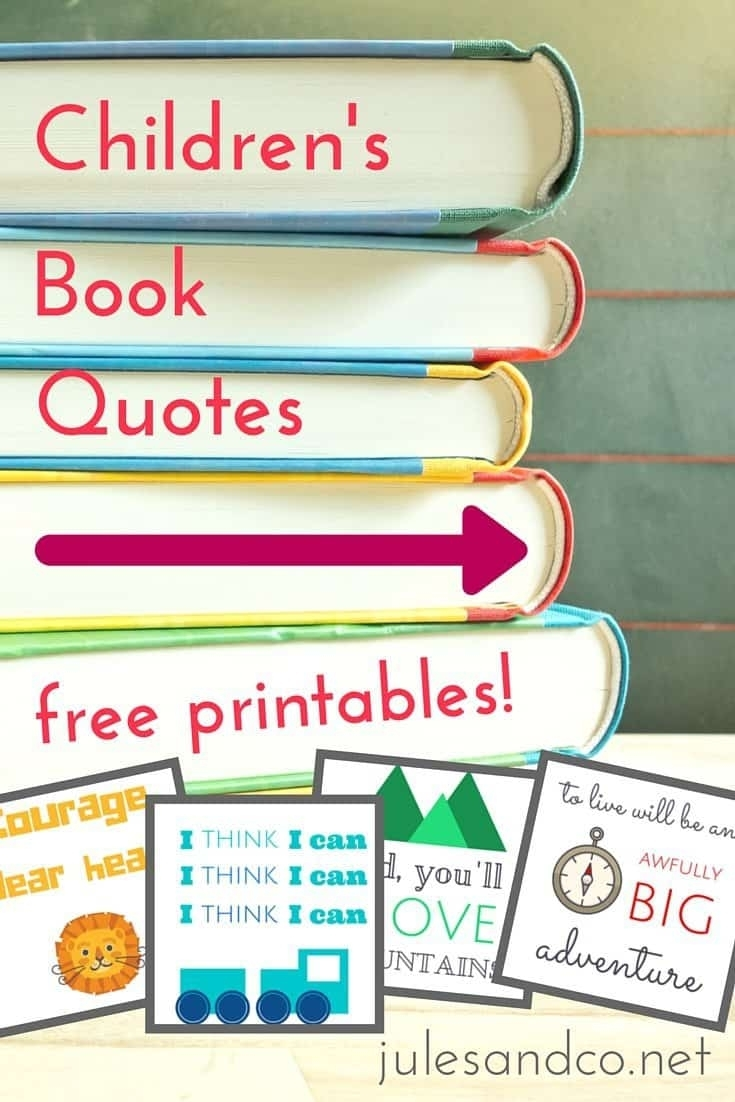 Free Printable Children Book Quotes Jules Childrens Books