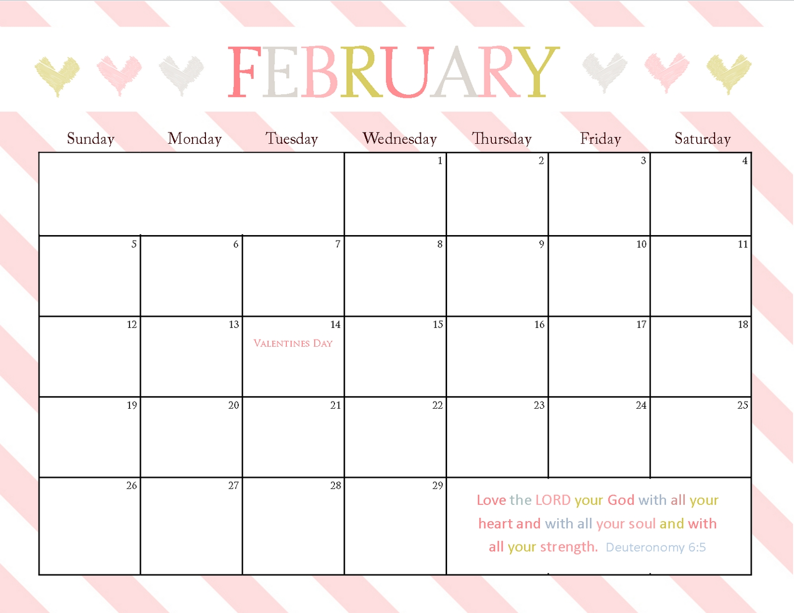 Free Printable Monthly Calendar With Large Boxes Calendar