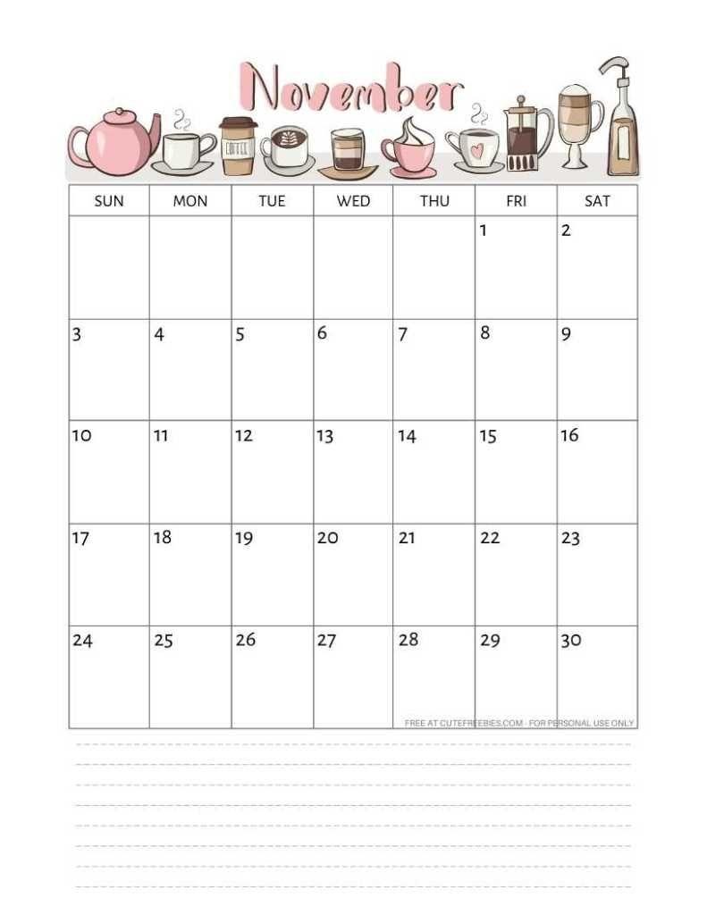 Free Printable November 2019 Calendar Pdf | 2019 Calendar