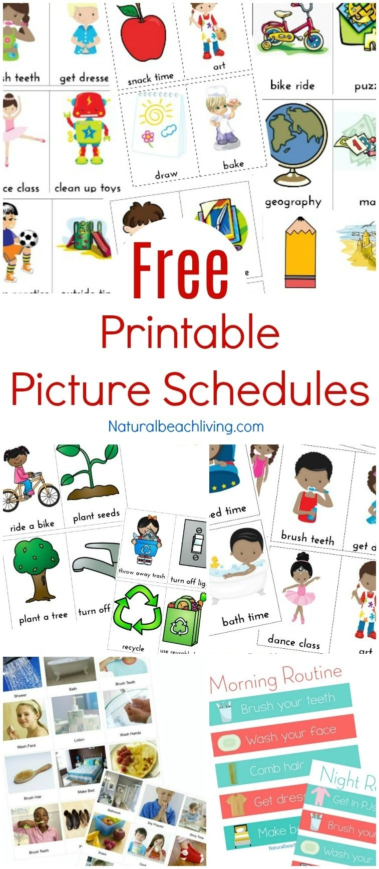 Free Printable Picture Schedule Cards - Visual Schedule
