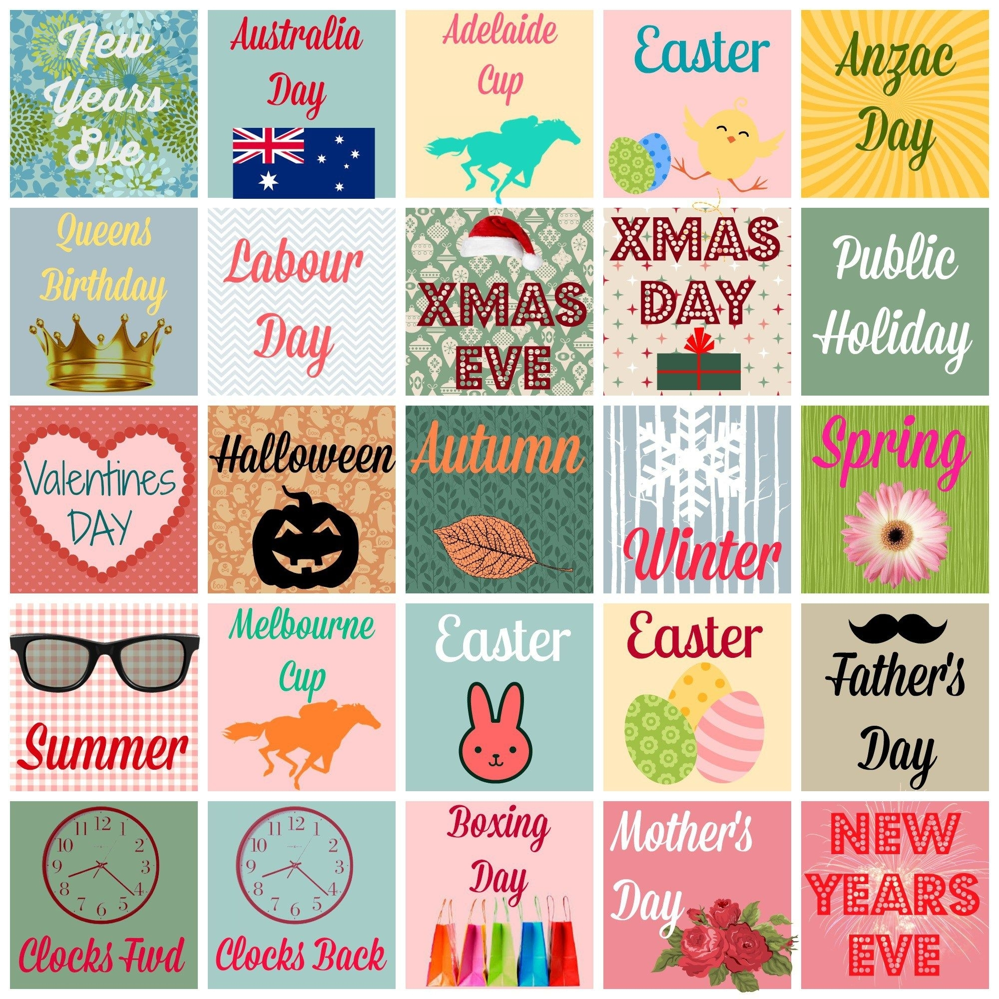 Free Printable Planner/diary Stickers {Australian Occasions