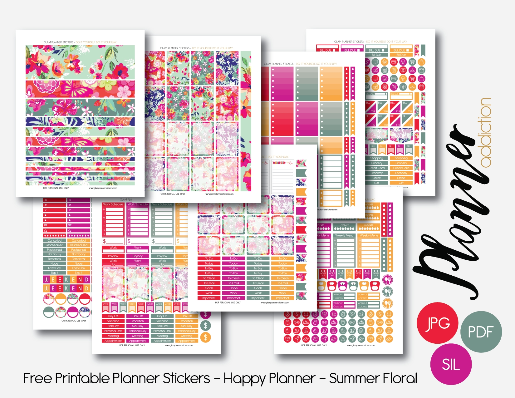 Free Printable Planner Stickers – Planner Addiction