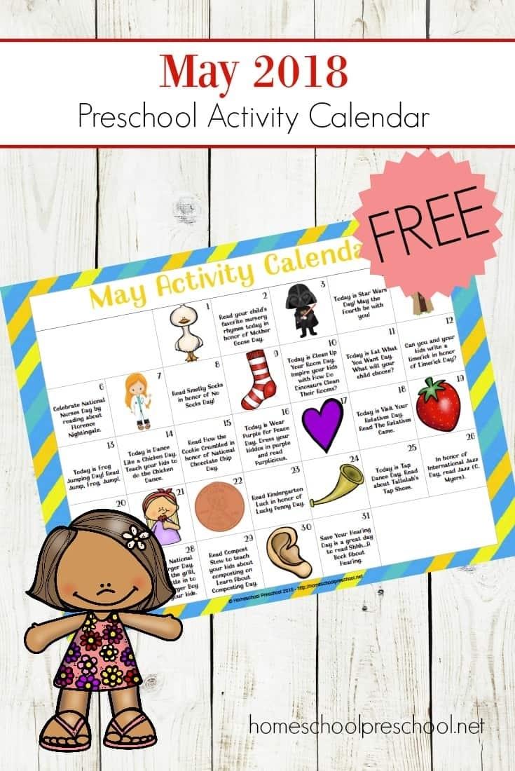 Free Printable Preschool Activity Calendar For Fun Holiday