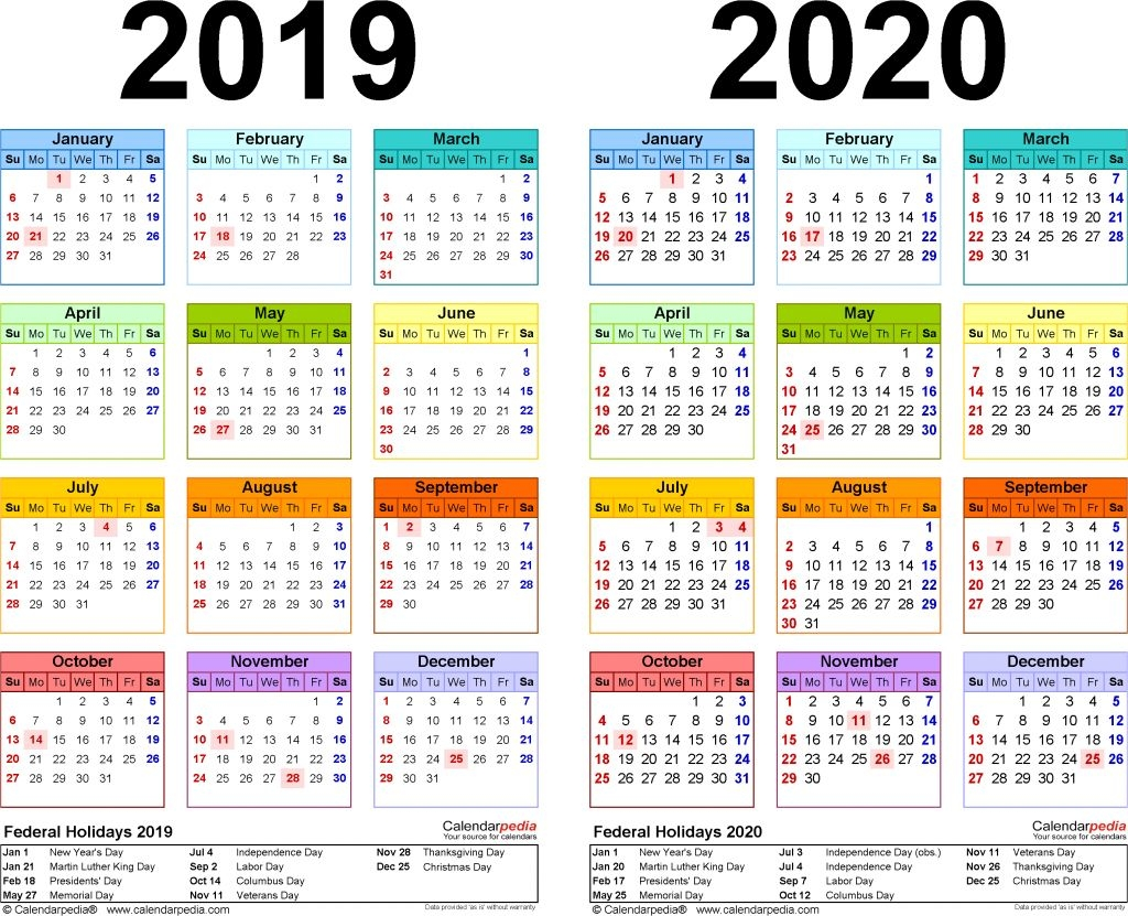 Free Printable School Calendar 2019 20 For Or Home 2017 18