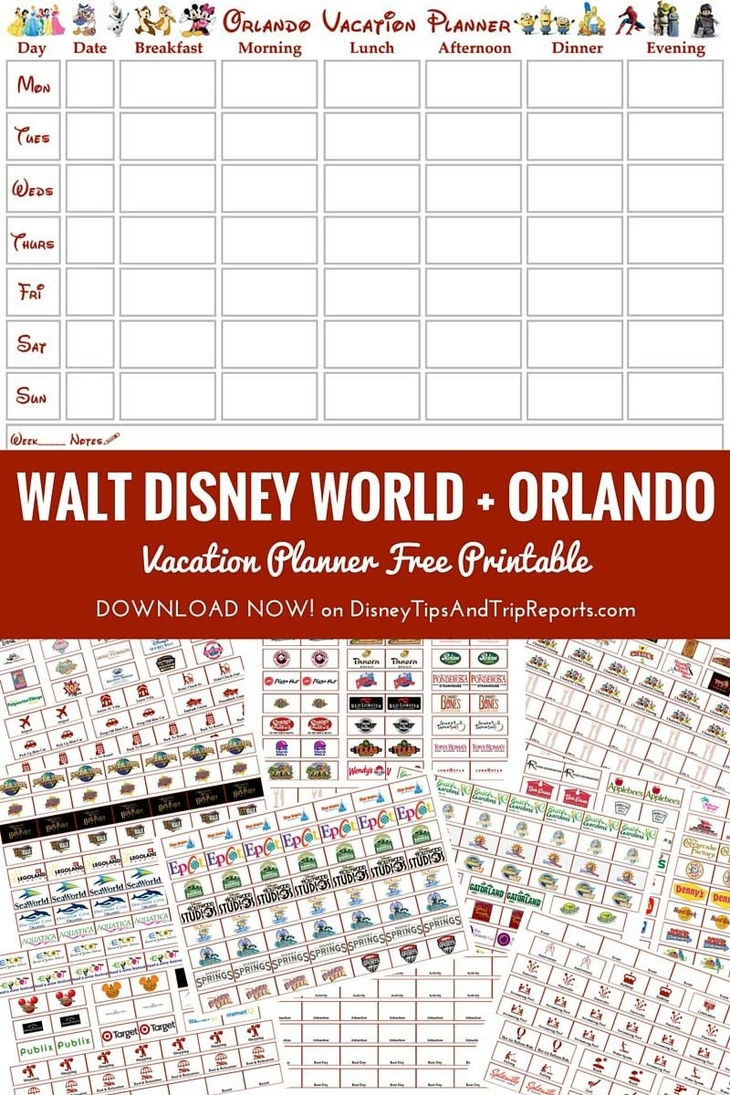 Free Printable Walt Disney World + Orlando Vacation Planner