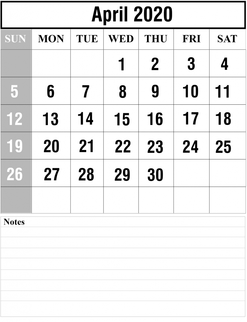 Free Printable Yearly Calendar 2020 Template [Pdf And Word