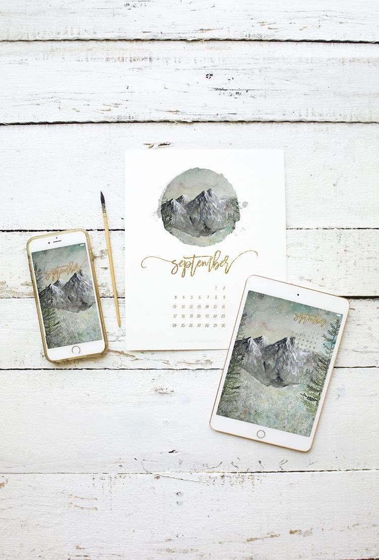 Free September 2017 Calendar – Printable – Ipad – Iphone