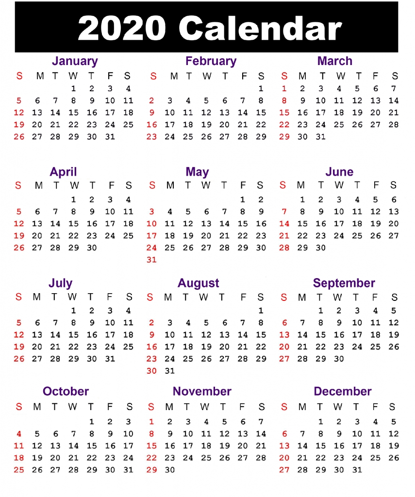 Free South Africa 2020 Printable Calendar With Holidays