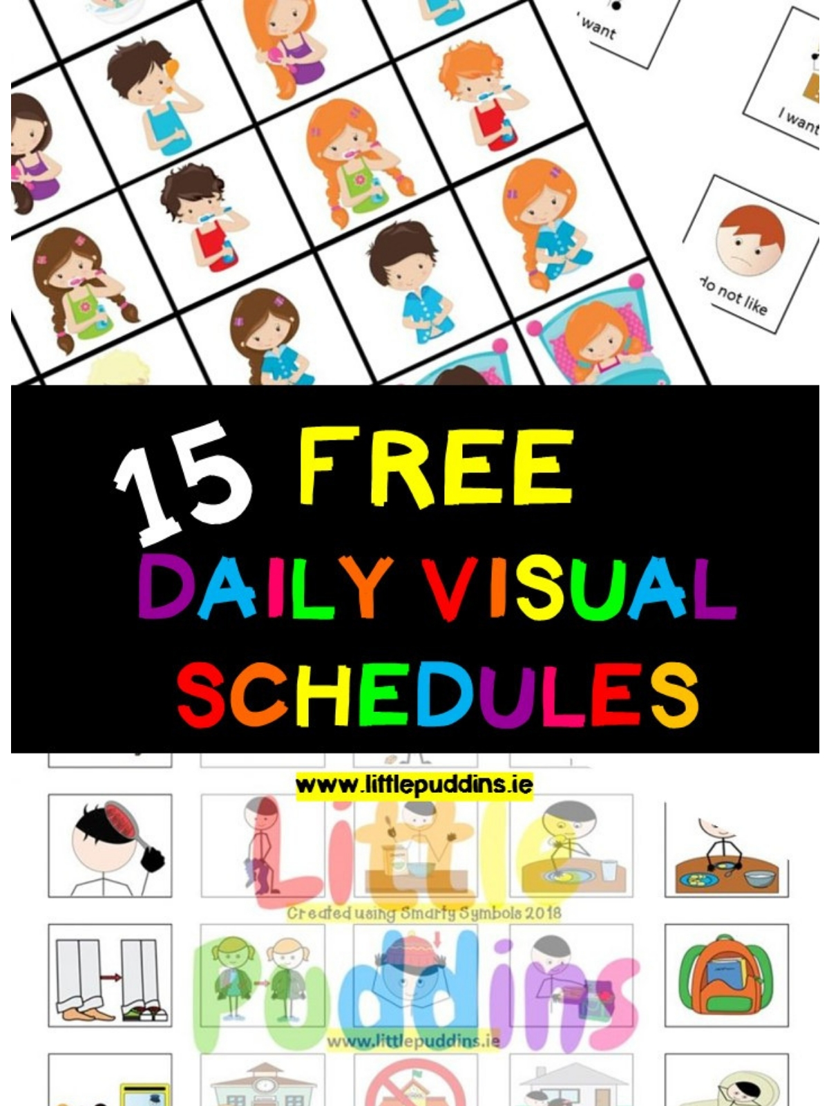 Free Visual Schedules – Little Puddins Free Printables