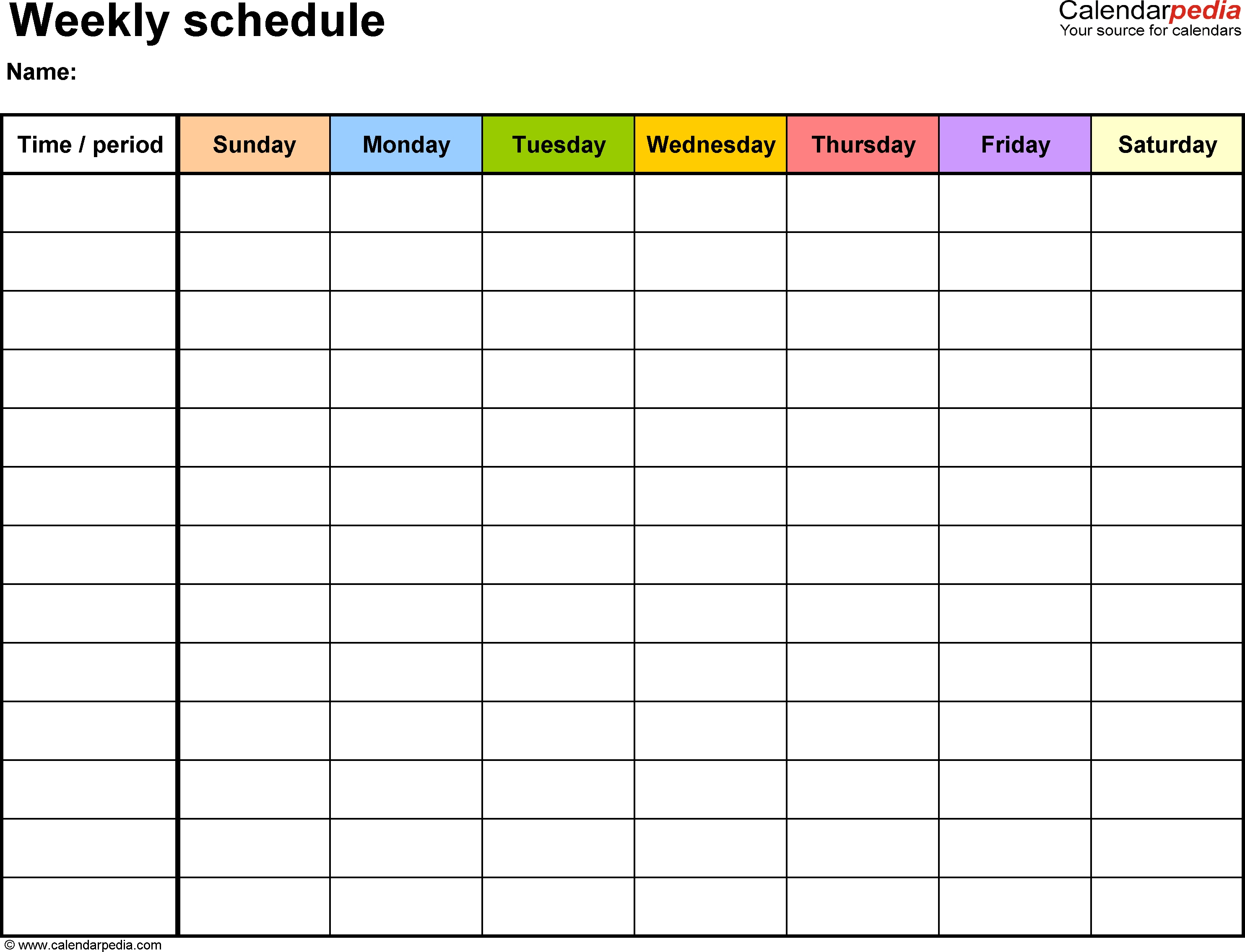 Free Weekly Schedule Templates For Excel - 18 Templates