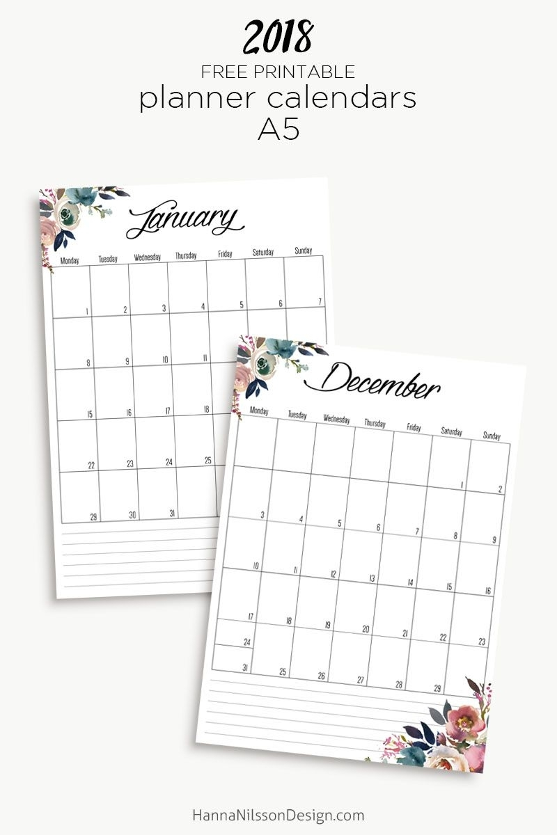 Free Yearly Calendar | 2018 Calendar Printable Free, Free