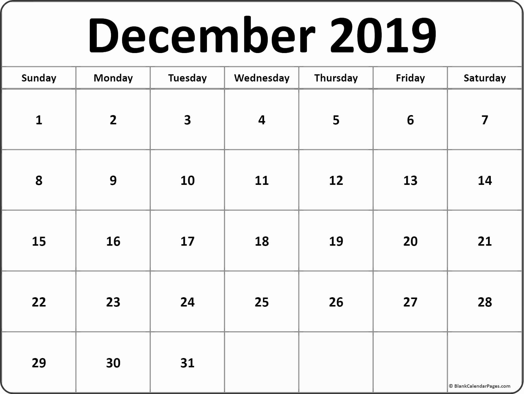 French Calendar December 2019 | Calendar Template