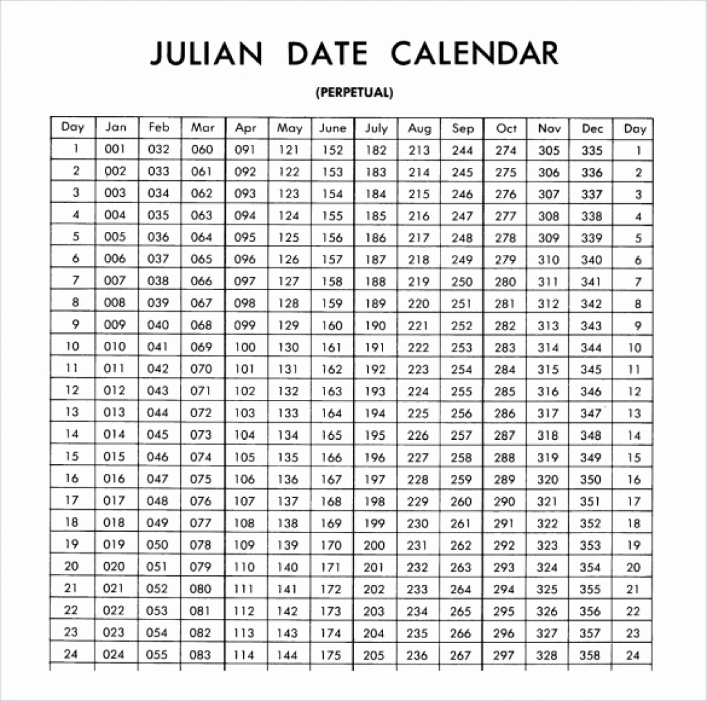 Fresh 46 Illustration Julian Calendar019 | Blank & Printable