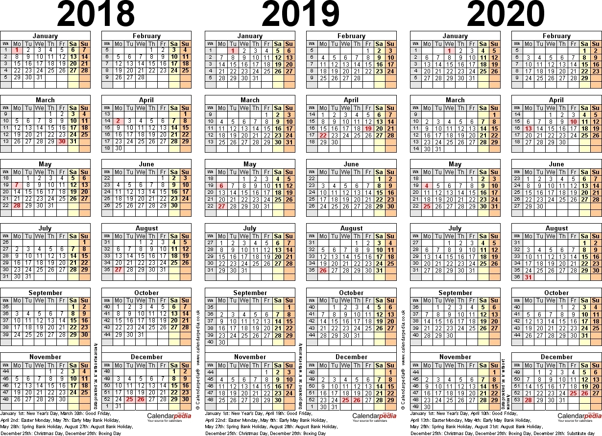 Full Year Calendar Template 5 Printable Yearly Blank Excel