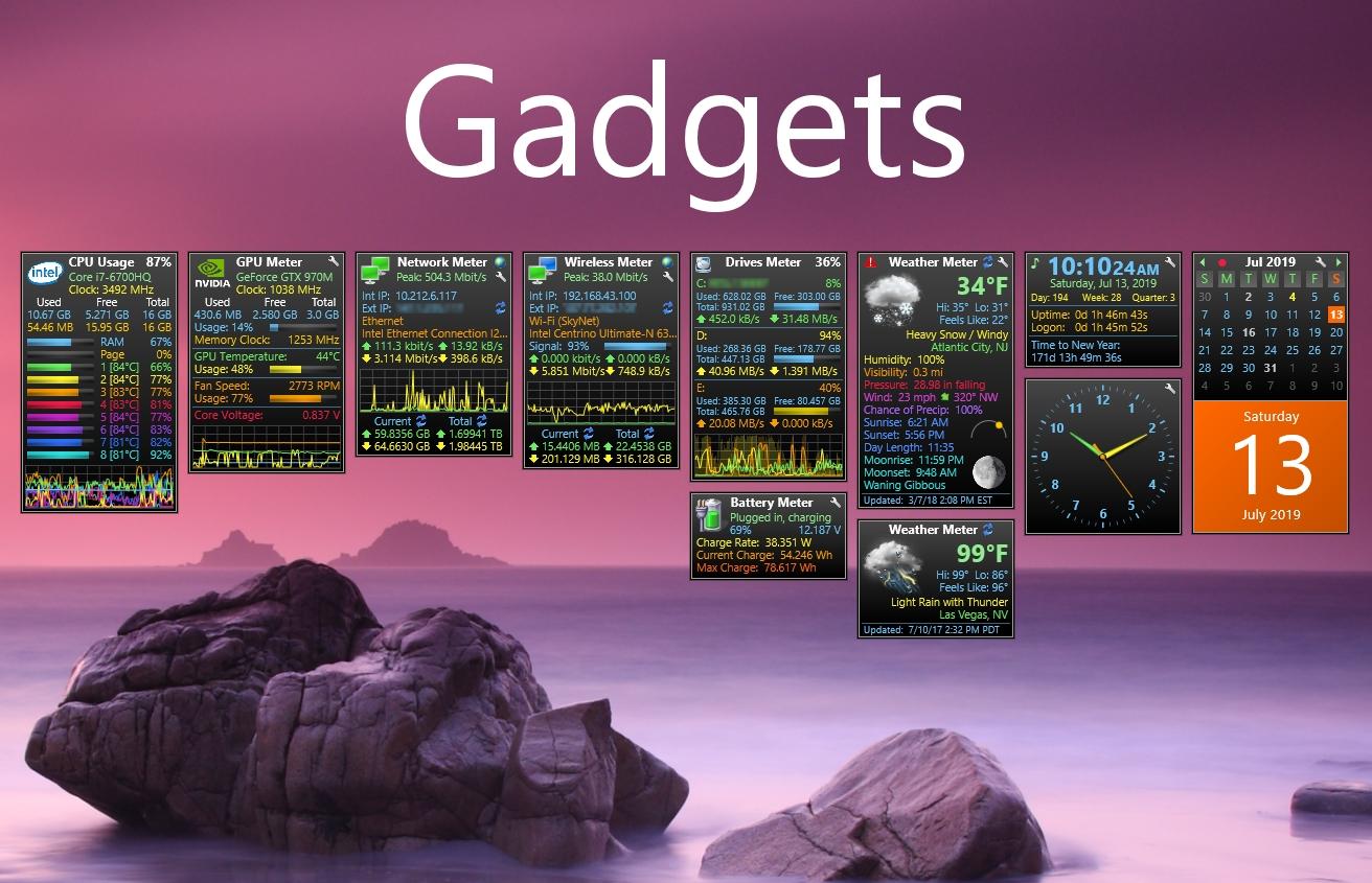 Gadgets 5.1.0 - Inspiredaddgadgets Sidebar Gadgets