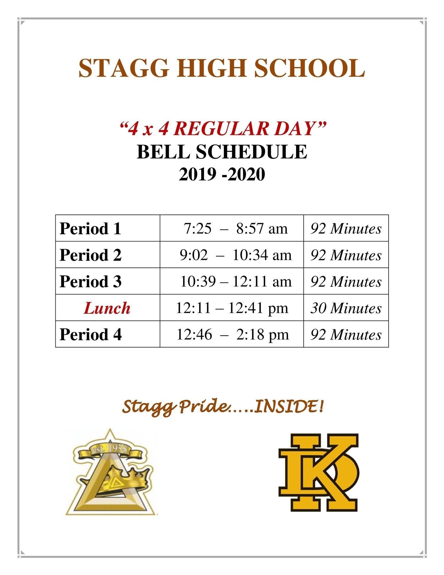 General Information / Bell Schedule