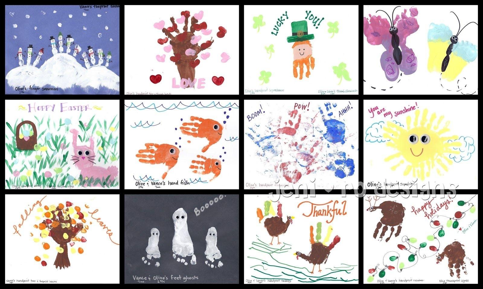 Gift Given: Kid's Handprint Calendar • | Kids Calendar