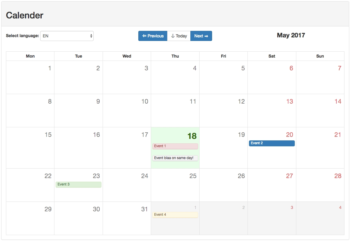 Github - Eazyserver/vue-Bootstrap-Calendar: Use The Magical