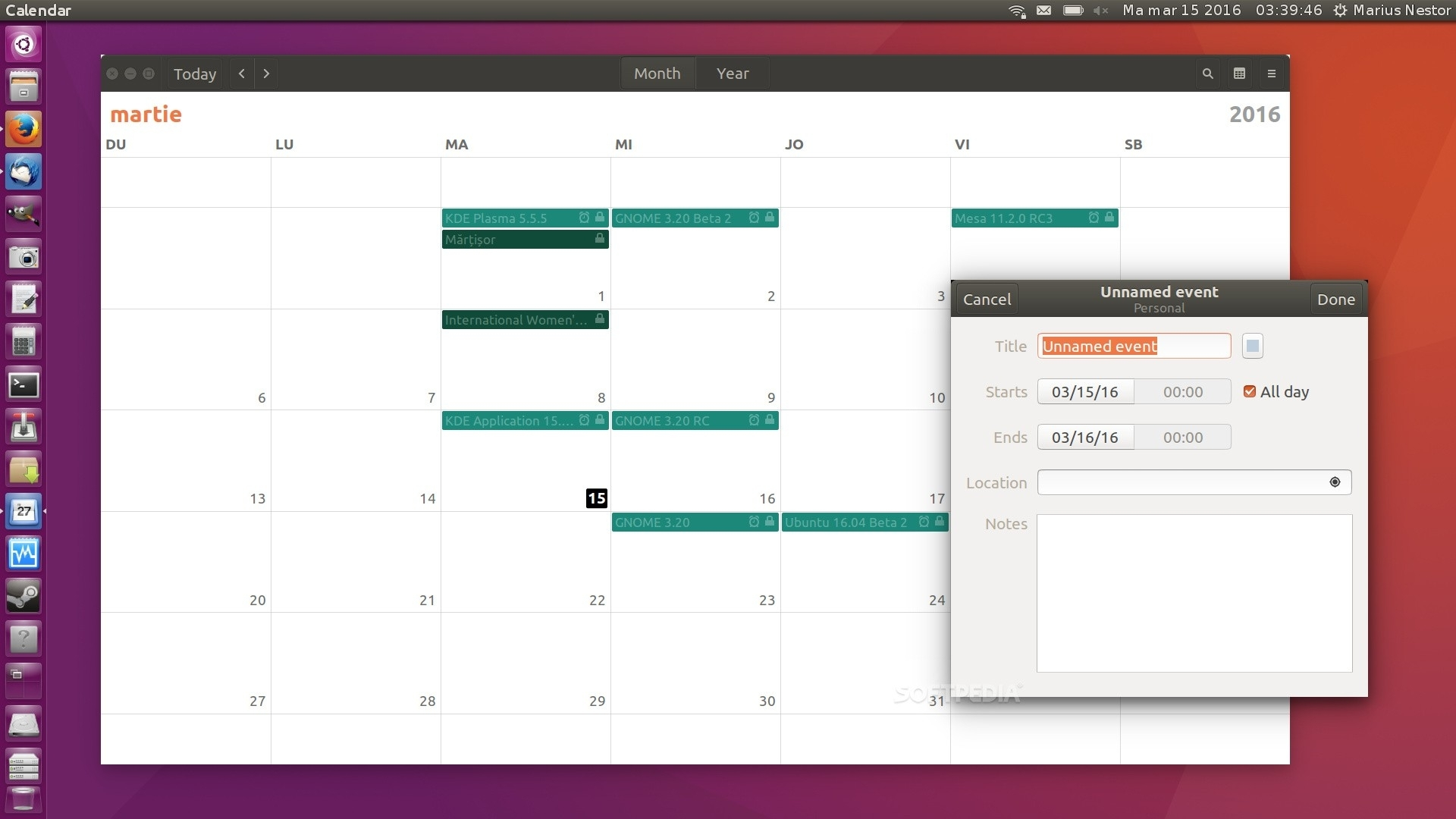 Gnome Calendar App Now Fades Out Past Events, Respects 12/24