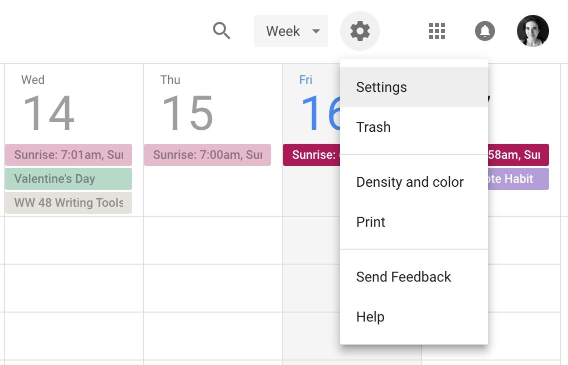 Google Calendar Email Agenda 1 • Dotto Tech
