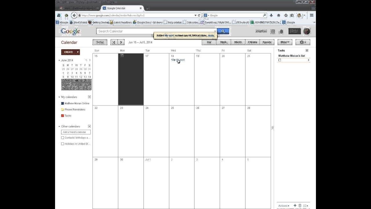 Google Calendar - Setting The Custom View To 4 Weeks