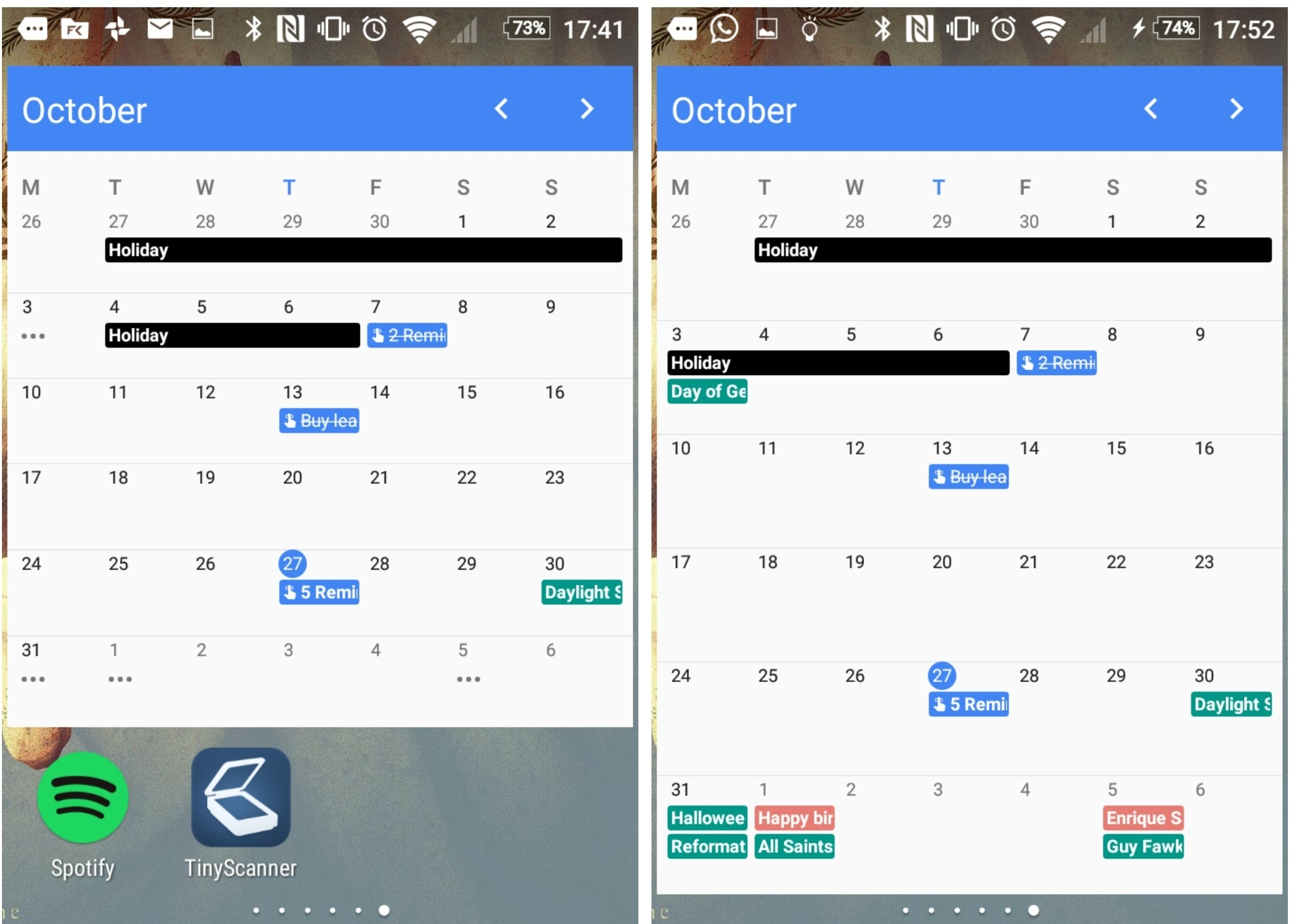 Google Calendar Version 5.6.2 Finally Brings A 'month' Widget