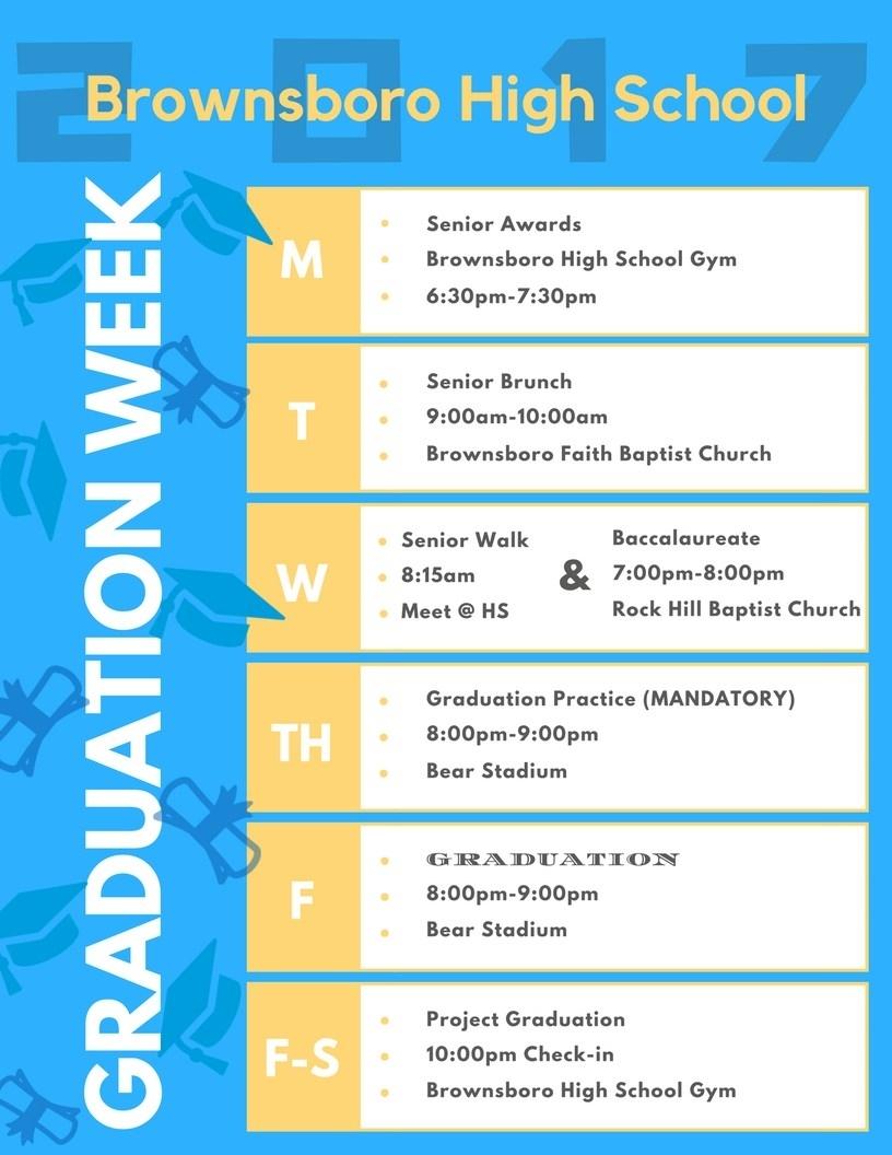 Graduation Week Happenings – Graduation Information