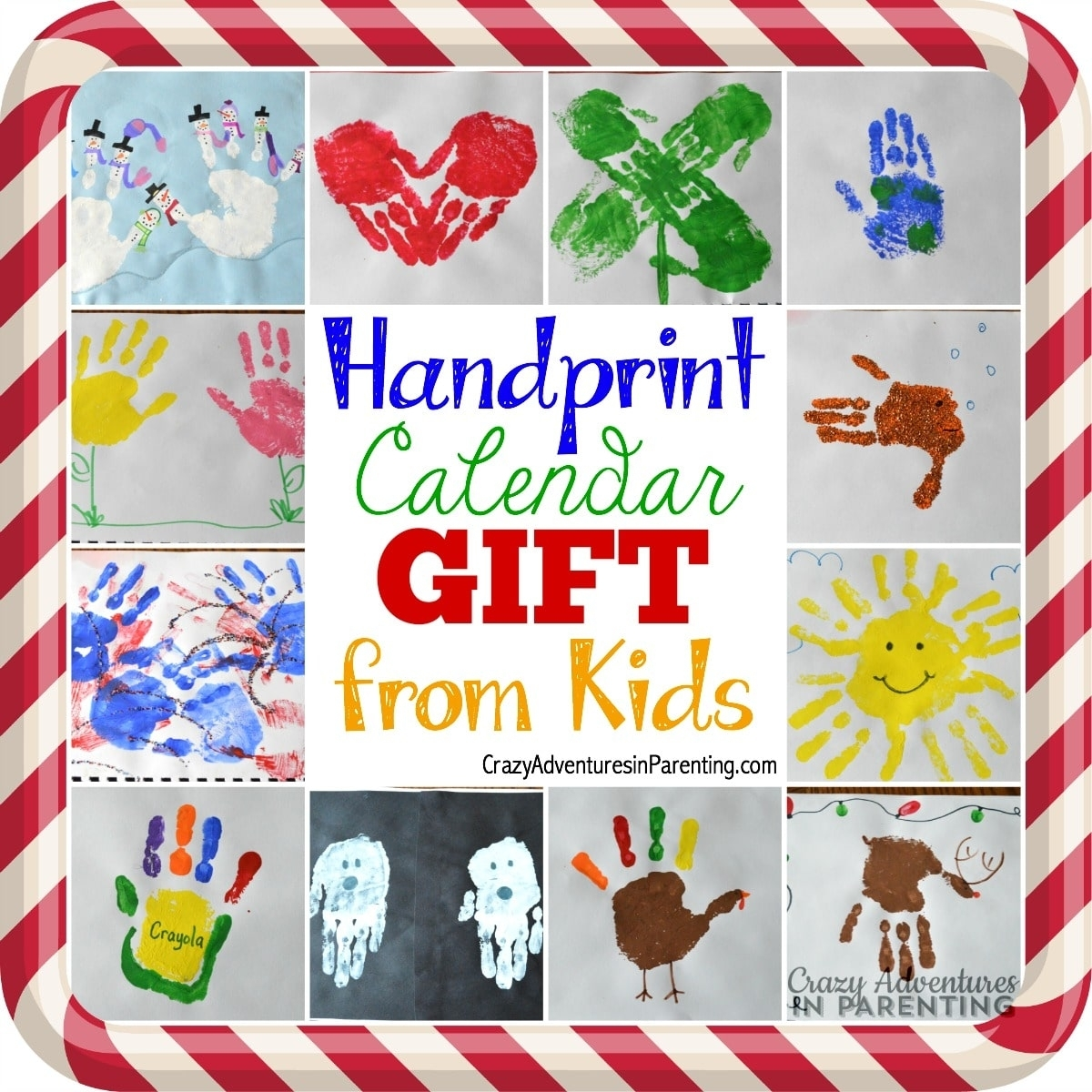 Handprint Calendar + 15 Homemade Gift Ideas Kids Can Make