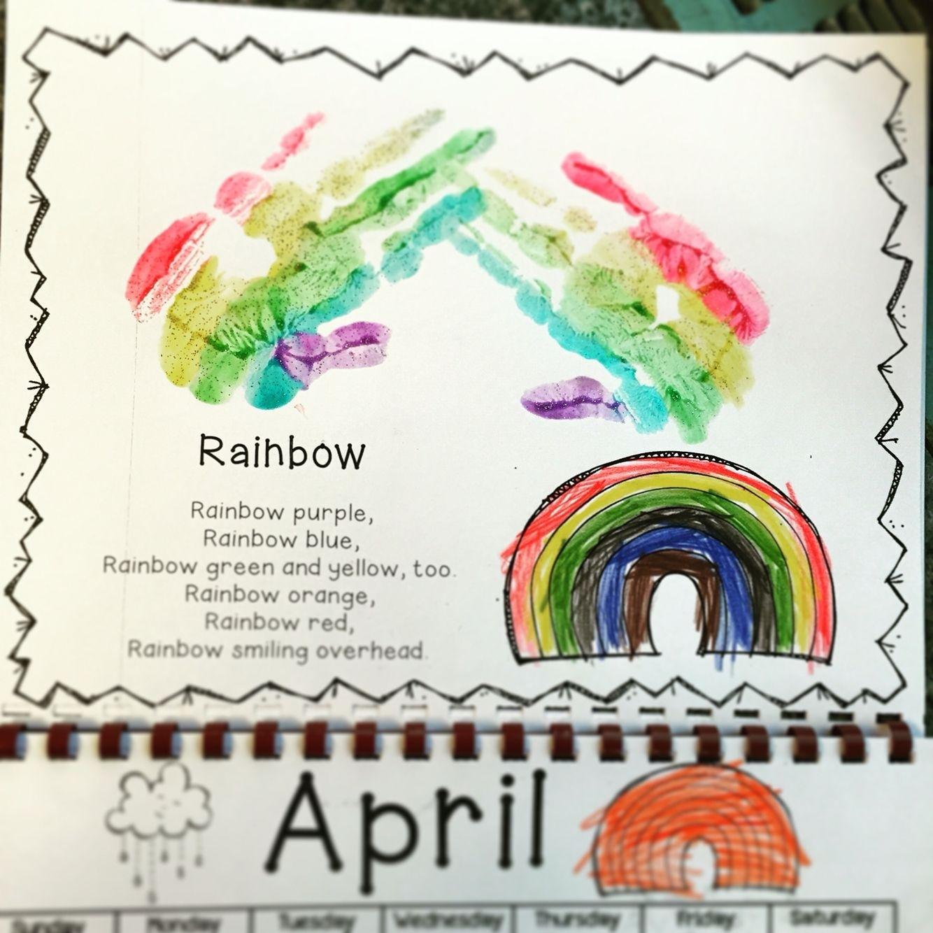Handprint Calendar 2020   Preschool Gifts, Kindergarten