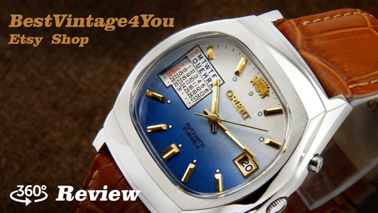 Hands-On Video Review Of Orient Multi Year Calendar Japan Watch From 70S
