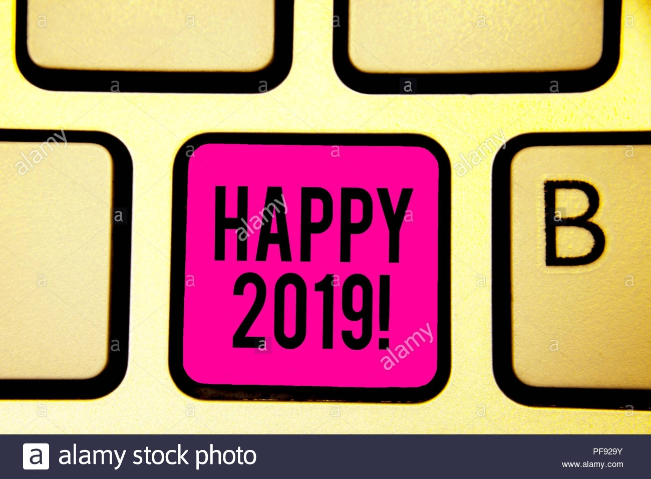 Handwriting Text Happy 2019. Concept Meaning Time Or Day At